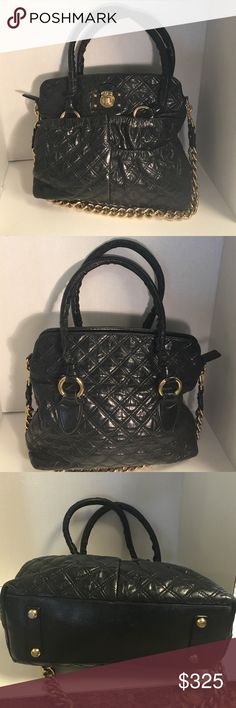 Selling this Marc Jacobs black quilted leather satchel on Poshmark! My username is: b287807. #shopmycloset #poshmark #fashion #shopping #style #forsale #Marc Jacobs #Handbags