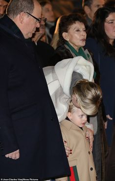 Doting mother Charlene could be seen planting a kiss on her son's forehead last night... Charlene Of Monaco, Monaco Royal Family, Fitted Black Dress, Princess Charlene, Prince Albert, Patron Saints, The St, Sons, Royalty