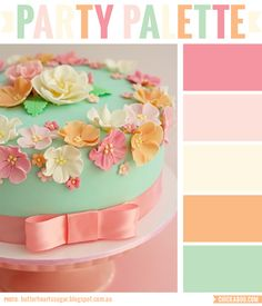 Beautiful pastel floral cake #colorpalette