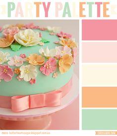 Party Palette: Vintage floral cake