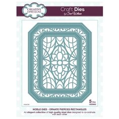 Creative Expressions Noble Dies - Ornate Pierced Rectangles by Sue Wilson £17.99 free p&p hixysoft on ebay