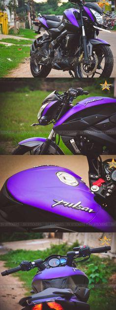 Bajaj Pulsar model power, mileage, safety and colors at SAGMart. Moto Pulsar 200, Pulsar 200ns, Purple Motorcycle, Bobber Motorcycle, Motorcycles, Bike Quotes, Motorcycle Quotes, Quotes Quotes, Wallpaper White Hd
