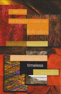 the language of timeless sexuality    by Piia Myller