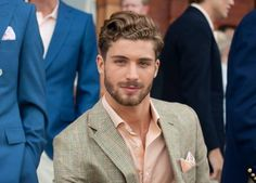 Men's wear # mode homme # fashion for men Beautiful Men Faces, Gorgeous Men, Hair And Beard Styles, Curly Hair Styles, Hot Guys, Mens Facial, Beard Lover, Well Dressed Men, Great Hair