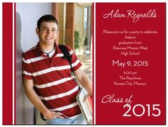 Photo Stripe Graduation Announcement Card from www.papersnaps.com http://www.papersnaps.com/announcements/graduation-announcements/high-school-and-college-graduation-announcements/photo-stripe-graduation-announcement-card.html #GraduationAnnouncements