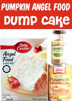 Dump Cake Recipes 3 Ingredients - Pumpkin Spice Cake! Our favorite Fall flavor of the year is back, and what better way to enjoy in than in this delicious and oh-so-EASY light and fluffy cake? Top it off with whip cream for the ultimate Fall treat! Go grab the recipe and give it a try this week... you'll be so glad you did!