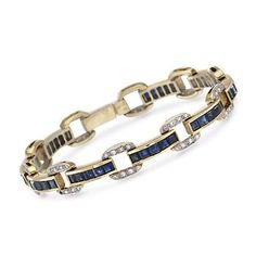 http://www.ross-simons.com/products/786158.html    C. 1980 Vintage 8.00 ct. t.w. Sapphire and .50 ct. t.w. Diamond Bracelet In 18kt Yellow Gold. 6.75""