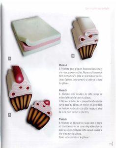 cupcake cane (from Canes en folie ! Idées créatives en pâte polymère by Chauveau Magali/Turlé-Durang Nathalie)