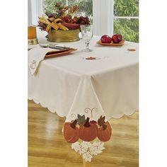 Found it at Wayfair - Pumpkin Party Round Tablecloth