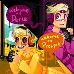 I LOVE THIS CROSSOVER SO MUCH   Welcome to Night Vale+Homestuck