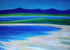 Superb large original oil painting on canvas of a beautiful sandy beach in Donegal, on the Wild Atlantic Way, in Ireland.  Size: 50 x 70 x 2 cm Oil Painting on Canvas One of a kind Artwork Ready to Hang without Frame Edges of Canvas Painted White Signed on the front FREE SHIPPING WORLDWIDE