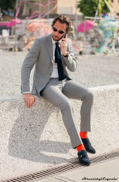 .Lighter gray suits are perfect for a business casual environment.