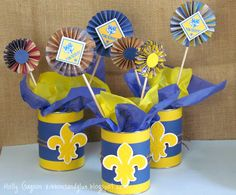 Blue & Gold table decorations