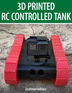 This remote controlled tank is 3D printed and also has a 3D printed controller. #Instructables #electronics #technology #fusion360 #toy Driving Instructions, Fusion 360, Pcb Board, Diy Electronics, Free Time, Arduino, Printer, 3d Printing, Remote