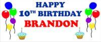 Custom Birthday Banner Custom Birthday Banners, Happy 10th Birthday, Personalised Birthday Banners