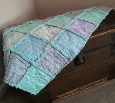 Lavender's Blue Nursery Rhyme Baby Rag Quilt by QuiltedRhymes