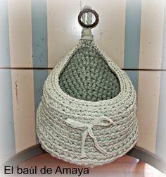 Resultado de imagen de bolsa de trapillo para colgar