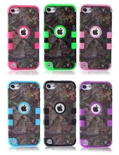 For iPod Touch 5 5th Gen. : Hybrid CAMO Tree Rugged Rubber Hard Tough Case Cover[Black - Tree - Touch 5]