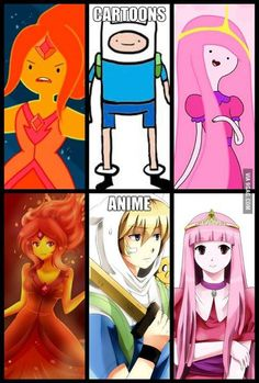 To people who don't know the difference between cartoon and anime. I present you this!