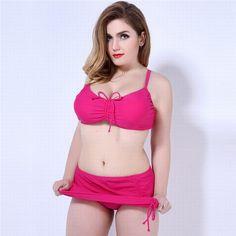 $21.99 (Buy here: https://alitems.com/g/1e8d114494ebda23ff8b16525dc3e8/?i=5&ulp=https%3A%2F%2Fwww.aliexpress.com%2Fitem%2F2016-Mid-Waist-Bikini-Plus-Size-Swimwear-New-Beach-Bathing-Women-s-Swimsuits-Large-size%2F32735234248.html ) 2016 Mid Waist Bikini Plus Size Swimwear New Beach Bathing Women's Swimsuits  Large size Biquini Push Up Bikinis Women BK405 for just $21.99