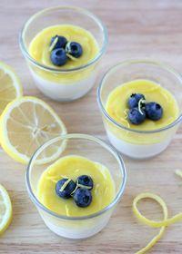 Yogurt Panna Cotta with Lemon Curd