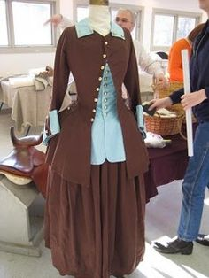 This time we were learning to draft/drape 18 th century riding habits. The riding habit a. 18th Century Dress, 18th Century Clothing, 18th Century Fashion, Medieval Clothing, Historical Clothing, Historical Costume, Vintage Inspired Outfits, Vintage Outfits, Vintage Gowns