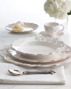 White Dinnerware - you can never have enough.