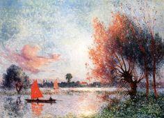 The Athenaeum - Sailboat on a Pond (Ferdinand du Puigaudeau - )