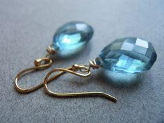 Mermaid earrings by Sueanne Shirzay on Etsy, $37.00
