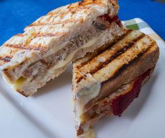The Small Boston Kitchen: Day After: Mushroom and Leek Turkey Meatloaf Panini
