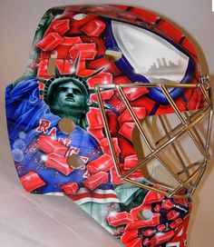 Stephan Valiquette - NY Rangers - Spiderman mask