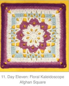 Day 11: Floral Kaleidoscope Square by Gleeful Things