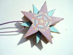 Three overlapping stars Christmas tree decoration