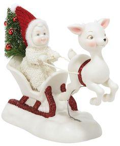 Department 56 Snowbabies One Deer Open Sleigh Collectible Figurine
