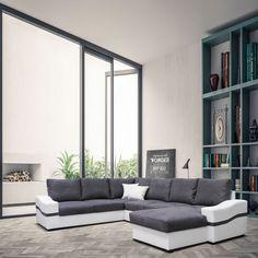 Qu'y-a-t-il de mieux que de goûter à un grand Oreo entre amis ? Ce canapé panoramique et design est très convivial... #canape #panoramique #oreo