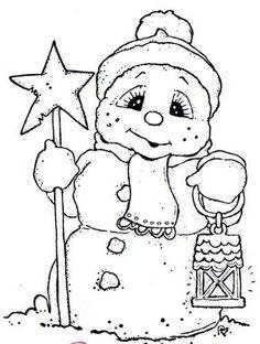Snowman coloring                                                       …