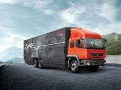 "t the Indonesia International Motor Show, Daimler Trucks subsidiary presented the new heavy-duty model FUSO ""FJ"", among others. Wallpaper Hp, Daimler Ag, Mitsubishi Motors, New Launch, New Trucks, Brisbane, Sydney, Motorhome, Mercedes Benz"