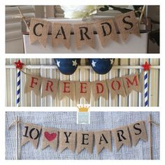 Cake Topper Banners! Personalize a mini burlap banner for ANY occasion! by QueensBanners