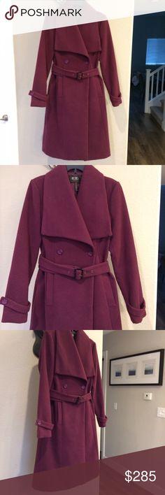 BCBG Paris Perfect Style coat BCBG Paris Perfect Style  Purple Coat. Size 6. Excellent condition. BCBG Jackets & Coats