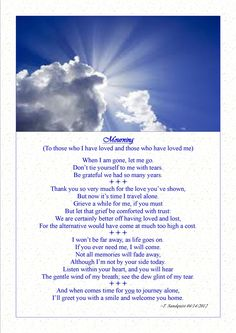 A beautiful poem for the loss of your dog. We just had to ...