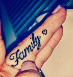 family tattoos finger