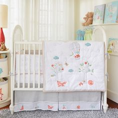 Fox and the Finch Crib Bedding #rosenberryrooms