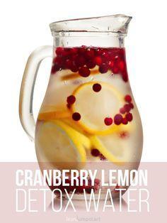 cranberry lemon detox water