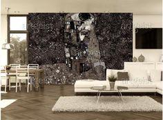 Carta da parati ispirata alla pittura di Klimt è una decorazione murale perfetta per tutti gli amanti dell'arte #klimt #bacio #cartadaparati #cartedaparati #wallpapers #art #homedecor #arte #fotomurale #fotomurali