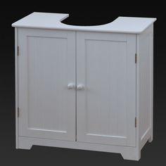 White Under Sink Basin Cabinet Cupboard Bathroom Furniture Storage Unit in Home, Furniture & DIY, Furniture, Cabinets & Cupboards | eBay!