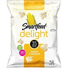 Smartfood Delight White Cheddar Flavored Popcorn, Ounce (Pack of Love popcorn? White Cheddar Cheese Popcorn is the SMARTEST choice! Air-popped popcorn is adorned with the incredible flavor of white cheddar cheese. White Cheddar Popcorn, Cheese Popcorn, Popcorn Snacks, Flavored Popcorn, White Cheddar Cheese, Air Popped Popcorn, Pop Popcorn, Smart Snacks, Yummy Snacks