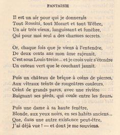 ::Gérard de Nerval, Fantaisie::
