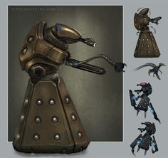 What a Dalek would look like. Doctor Who Art, Doctor Who Tardis, Anubis, Arte Robot, Savage Worlds, Alien Design, Sonic Screwdriver, Dalek, Time Lords