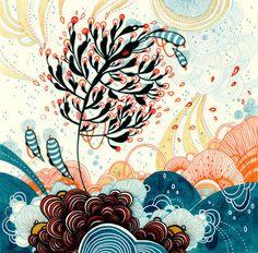 《淡雅的宁静》Yellena James(澳洲)或许她的画不是最好看的,但是却是能够带给我们那种细致的温柔的画作,在她的画里,线条无一 不精致细密,加上印晕着水彩的光泽,散发着一种女性特有的温柔,是淡雅,是宁静。 Yellena James, Art Drawings, Drawing Art, Doodle Art, Art Forms, Illustrators, Decoupage, Street Art, Abstract Art