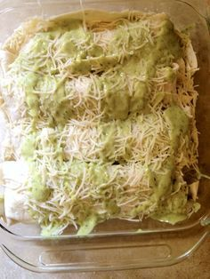 Pinner says: Just made these and can I say.... these are fantabulous!!! The cilantro avacado cream sauce is amazing! Cilantro Lime Chicken Enchiladas with Avocado cream sauce